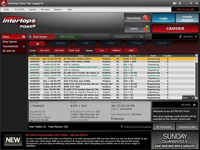 Intertops Poker Bonus Code & Promotions Sep 2019