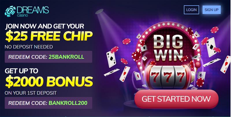 Dreams Casino No Deposit And Reload Bonus Codes Jul 2020
